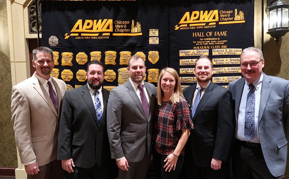 "Pictured from left to right"" John Briggs (President); Mike Hall (Treasurer); Sean O'Dell (Past President); Rachel Lang (President Elect); Marc Grigas (Secretary); Marty Wittrock (Vice President)"