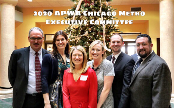 Looking forward to a  productive 2020! (L-R) Marty Wittrock (President), Allison Swisher (Treasurer), Rachel Lang (Past Pres.), Tiffany Engelhardt (Secretary), Marc Grigas (Vice Pres.), Mike Hall (Pres. Elect)