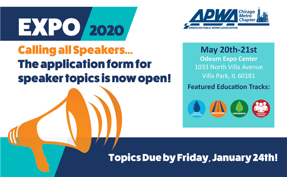 The application form for speaker topics is now open! Topics are due by Friday, January 24, 2020.