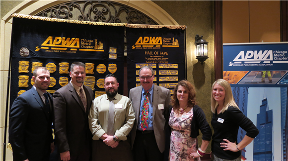 "Pictured from left to right:  President Sean O""Dell; President Elect John Briggs; Secretary Mike Hall; Treasurer Marty Wittrock; Past President Jennifer Hughes; Vice-President Rachel Lang"