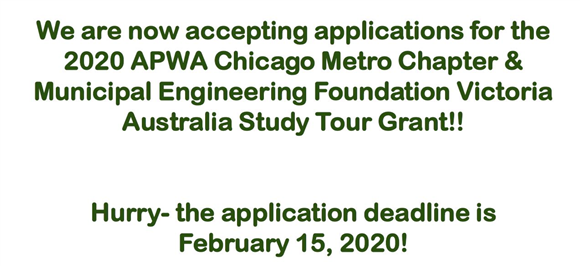 2020 APWA/MEFV Australia Grant Application is live! Applications are due February 15, 2020.